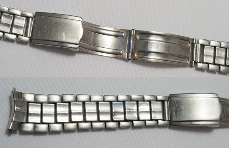1 mẫu dây kim loại đồng hồ Seiko 5 phiên bản 1963 hiếm hoi còn giữ được nguyên hình dáng