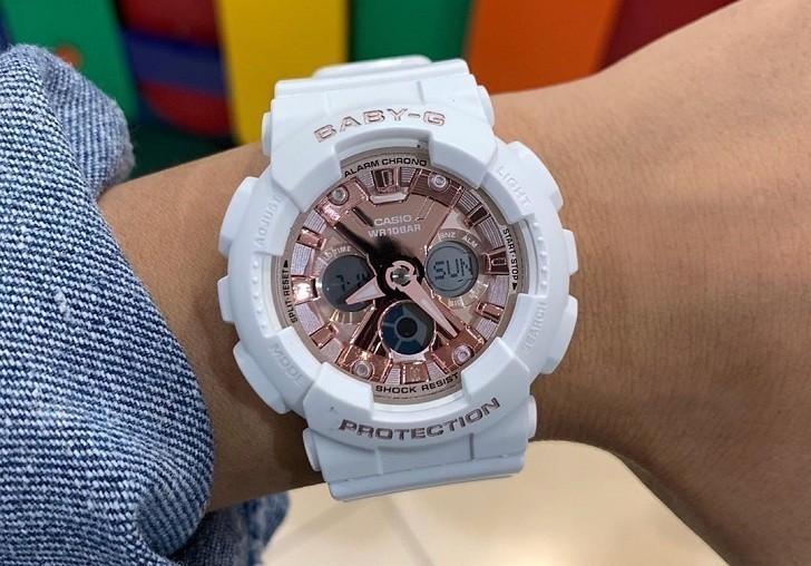 Đồng hồ nữ Baby-G BA-130-7A1DR giá rẻ, thay pin miễn phí - Ảnh 5