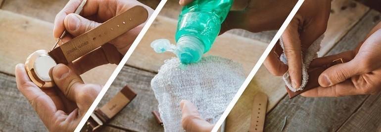 Cách khử mùi và vệ sinh dây da đồng hồ bằng giấm, xà phòng - Ảnh: 2