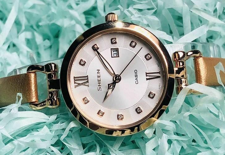 Đồng hồ nữ Casio SHE-4055PGL-7BUDF đính đá sang trọng - Ảnh 2