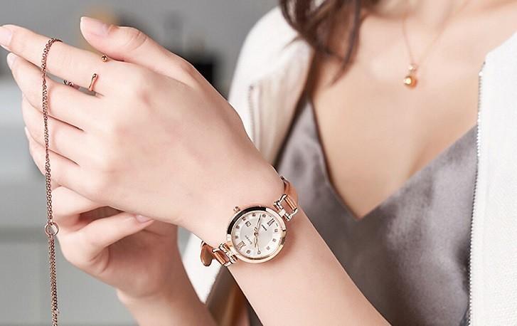 Đồng hồ nữ Casio SHE-4055PGL-7BUDF đính đá sang trọng - Ảnh 5