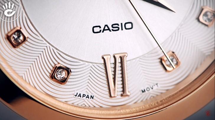 Đồng hồ nữ Casio SHE-4055PGL-7BUDF đính đá sang trọng - Ảnh 6