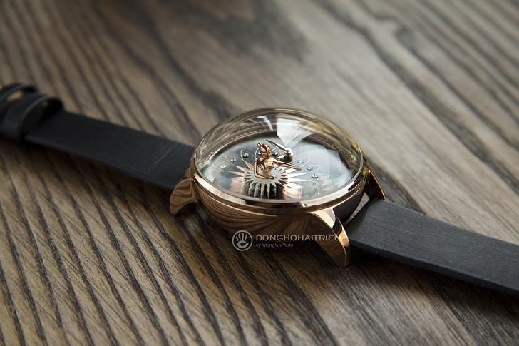 Đồng hồ ba lê Fouetté OR-5 có tượng nàng vũ công chuyển động - Ảnh: 7