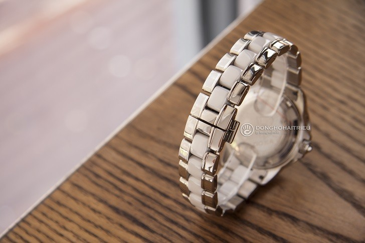 Đồng hồ đính kim cương Doxa D151RMW, khảm xà cừ thiên nhiên - Ảnh: 5