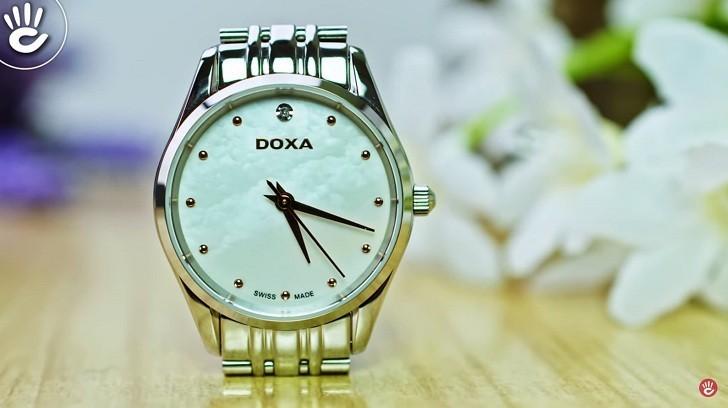 Doxa D204SWH - Đồng Hồ Thụy Sỹ Nổi Bật Với Mặt Số Xà CừẢnh 4