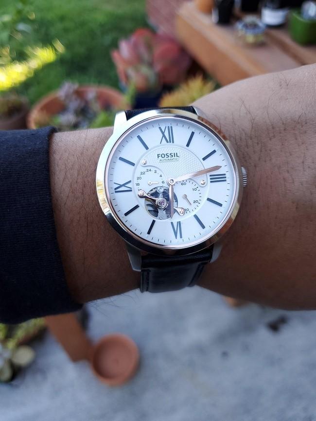 Đồng hồ Fossil ME3167 automatic, trữ cót lên đến 40 tiếng - Ảnh 4