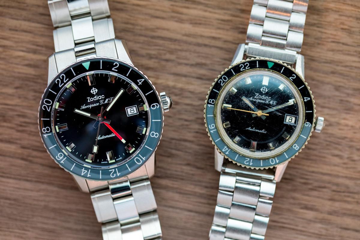 Zodiac Aerospace GMT 2019 (trái) và 1960 (phải)