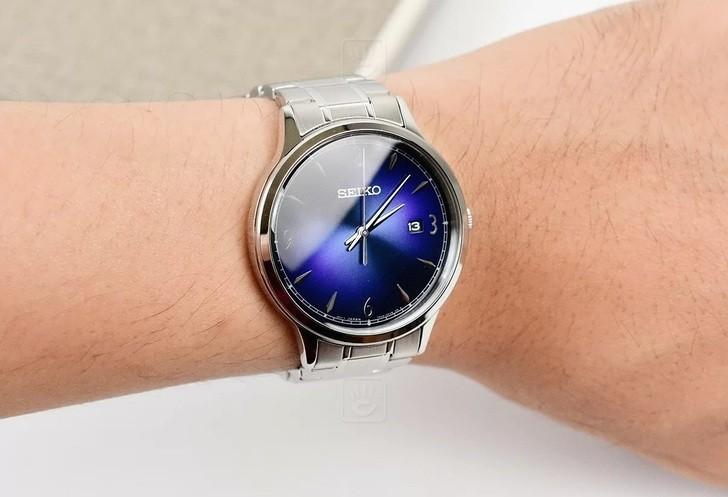 Đồng hồ Seiko SGEH89P1: Thiết kế thanh lịch, mặt xanh tinh tế - Ảnh: 1