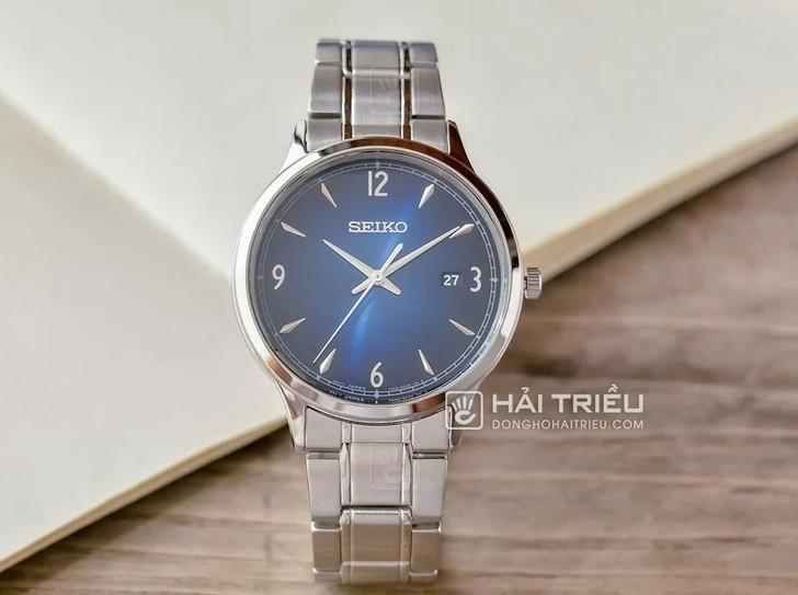 Đồng hồ Seiko SGEH89P1: Thiết kế thanh lịch, mặt xanh tinh tế - Ảnh: 2