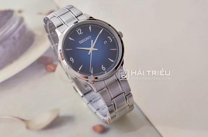 Đồng hồ Seiko SGEH89P1: Thiết kế thanh lịch, mặt xanh tinh tế - Ảnh: 3