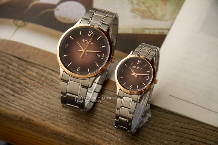 Đồng hồ Seiko SGEH90P1 máy quartz, mặt số màu nâu ấn tượng - Ảnh 1