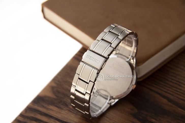 Đồng hồ Seiko SGEH90P1 máy quartz, mặt số màu nâu ấn tượng - Ảnh 4