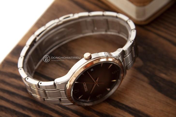 Đồng hồ Seiko SGEH90P1 máy quartz, mặt số màu nâu ấn tượng - Ảnh 6