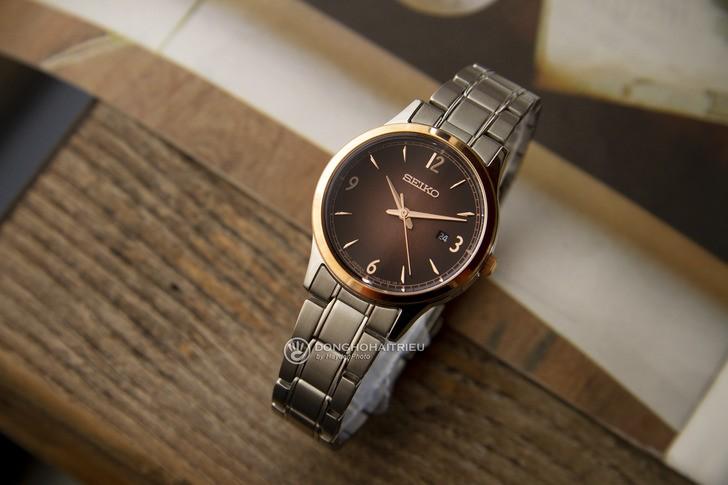 Đồng hồ Seiko SGEH90P1 máy quartz, mặt số màu nâu ấn tượng - Ảnh 8