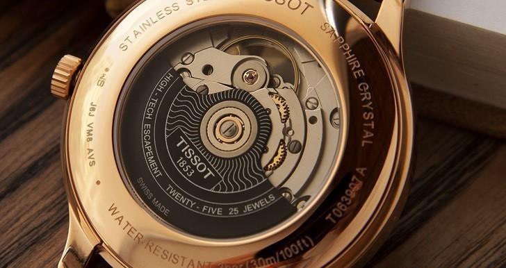 Đồng hồ Tissot T063.907.36.038.00 lộ cơ, trữ cót gấp đôi - Ảnh: 2