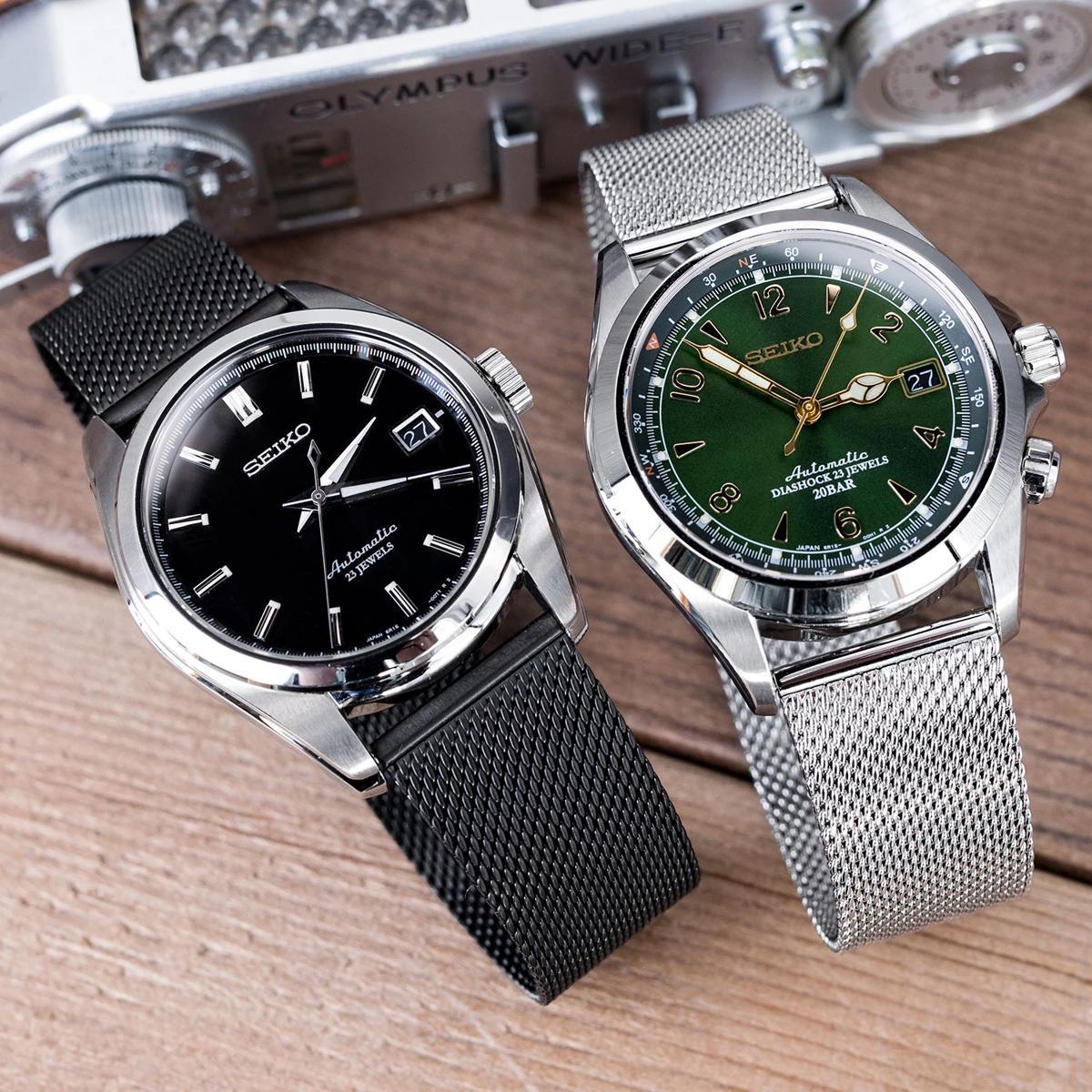 dây Milanese - kiểu dây đồng hồ kim loại được xem là thanh thoát nhất hiện nay - Seiko SARB033