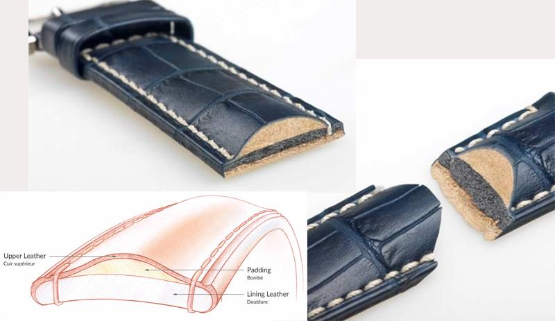 Cấu tạo của một chiếc dây da Hirsch, lớp da màu be chính là Softglove