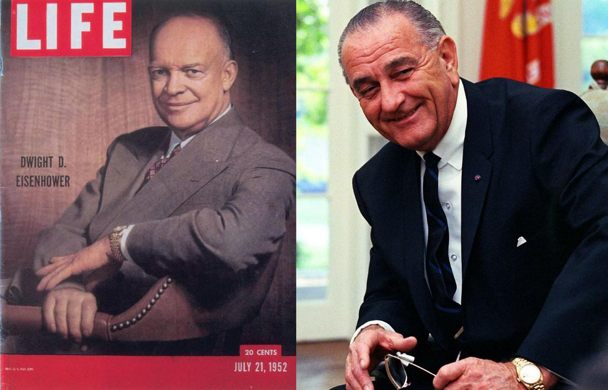 Dwight D. Eisenhower (Rolex Datejust) và Lyndon B. Johnson (Rolex Day-Date)