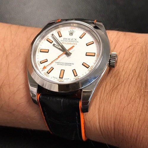 Đồng hồ nổi tiếng thế giới phối với dây da Hirsch bán chạy - Ảnh: 4
