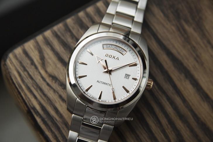Đồng hồ Doxa D205RWH: máy cơ, kim dạ quang, lịch rộng,... - Ảnh: 1