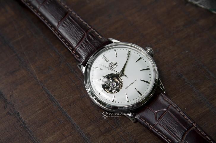 Đồng hồ Orient RA-AG0002S10B (Bambino Open Heart) kính cong - Ảnh: 5