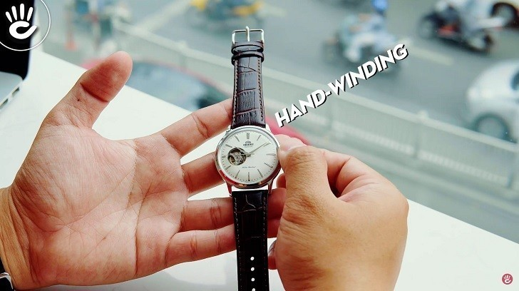 Đồng hồ Orient RA-AG0002S10B (Bambino Open Heart) kính cong - Ảnh: 6
