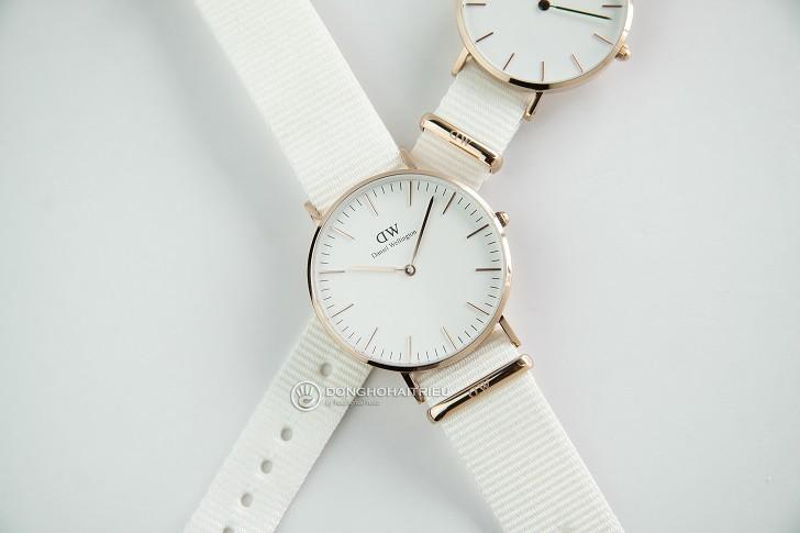 Đồng hồ Daniel Wellington DW00100311 dây vải Nato màu trắng - Ảnh: 1