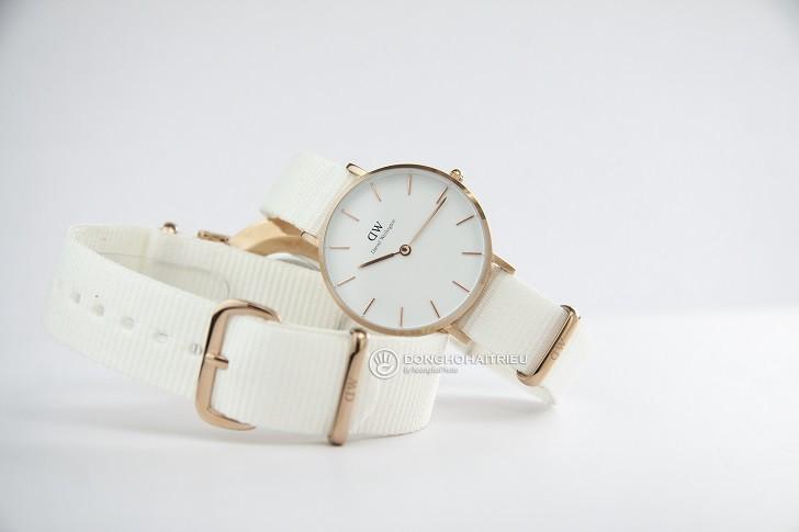 Đồng hồ Daniel Wellington DW00100311 dây vải Nato màu trắng - Ảnh: 2