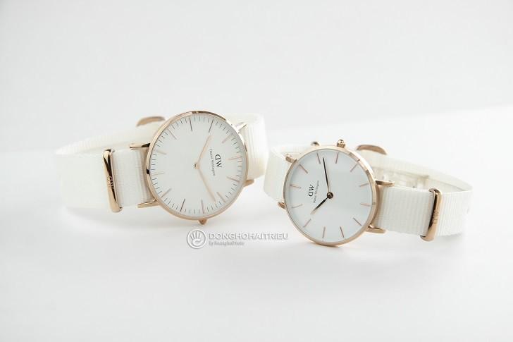 Đồng hồ Daniel Wellington DW00100311 dây vải Nato màu trắng - Ảnh: 3