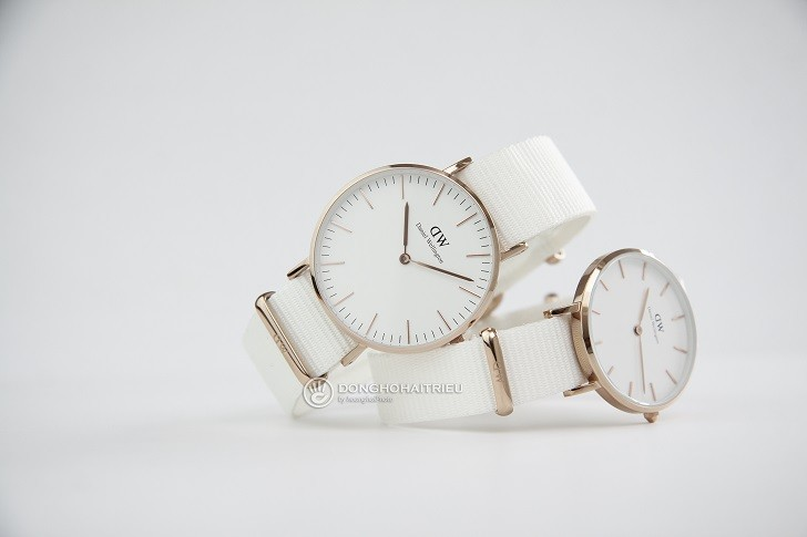 Đồng hồ Daniel Wellington DW00100311 dây vải Nato màu trắng - Ảnh: 7