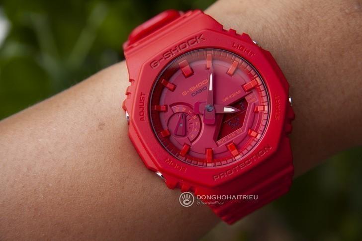Đồng hồ nam G-Shock GA-2100-4ADR giá rẻ, thay pin miễn phí - Ảnh 1