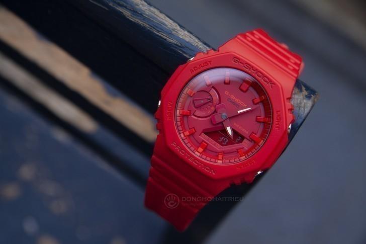 Đồng hồ nam G-Shock GA-2100-4ADR giá rẻ, thay pin miễn phí - Ảnh 2