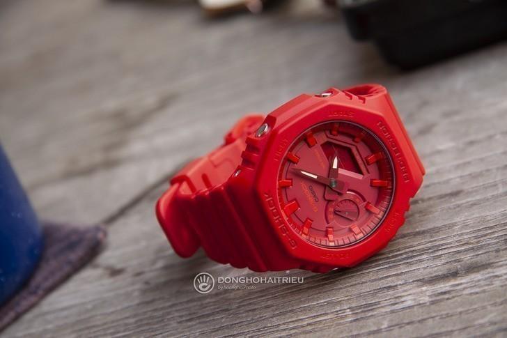 Đồng hồ nam G-Shock GA-2100-4ADR giá rẻ, thay pin miễn phí - Ảnh 3