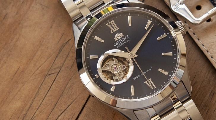 Đồng hồ Orient Golden Eye 2 (FAG03001D0) mặt xanh, lộ cơ - Ảnh: 5