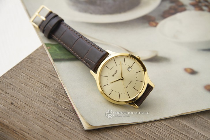 Đồng hồ Orient RF-QD0003G10B 100% máy Nhật, siêu mỏng 7mm - Ảnh 6