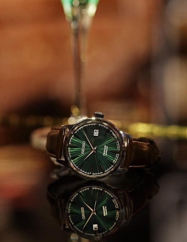 Đồng hồ cơ Seiko SRPD37J1 mặt xanh ngọc huyền diệu - Ảnh 1