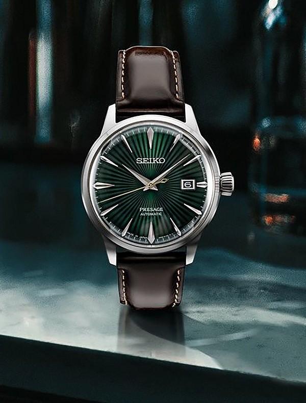 Đồng hồ cơ Seiko SRPD37J1 mặt xanh ngọc huyền diệu - Ảnh 2