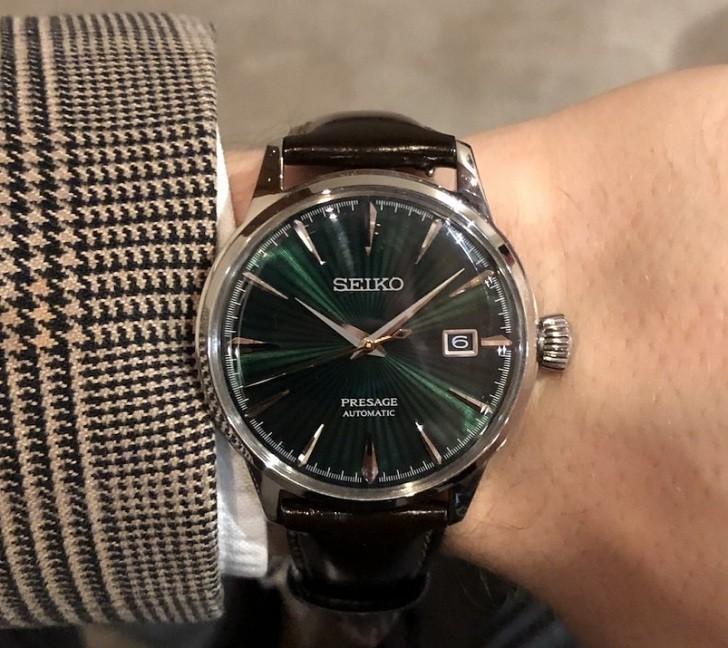 Đồng hồ cơ Seiko SRPD37J1 mặt xanh ngọc huyền diệu - Ảnh 4