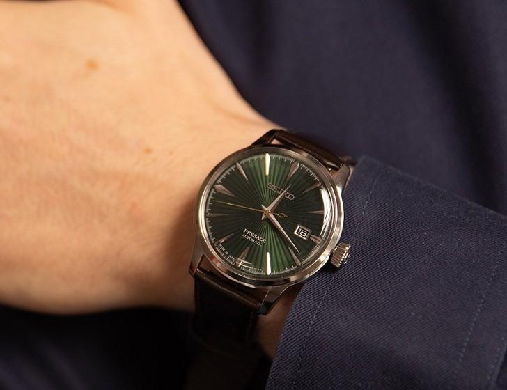 Đồng hồ cơ Seiko SRPD37J1 mặt xanh ngọc huyền diệu - Ảnh 5