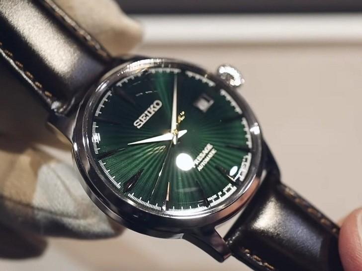 Đồng hồ cơ Seiko SRPD37J1 mặt xanh ngọc huyền diệu - Ảnh 8