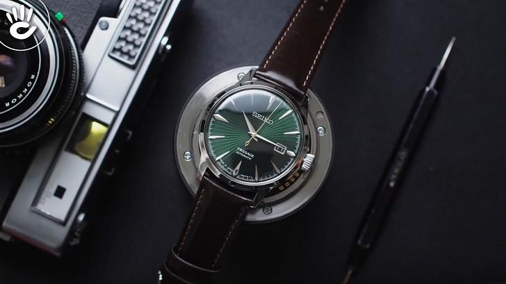 Đồng hồ cơ Seiko SRPD37J1 mặt xanh ngọc huyền diệu - Ảnh 7
