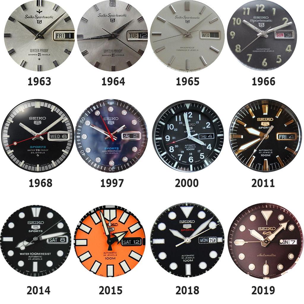 Lịch sử sự thay đổi biểu tượng của bộ sưu tập Seiko 5 Sports từ 1963-2019