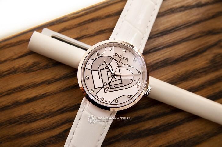 Đồng hồ Doxa D225SWH đính 12 kim cương | Collab Dorian Ho - Ảnh: 1