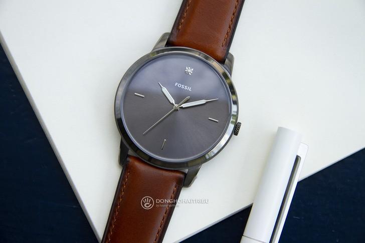 Đồng hồ Fossil FS5479 thời trang siêu mỏng, dây da lịch lãm - Ảnh 1