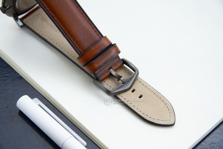 Đồng hồ Fossil FS5479 thời trang siêu mỏng, dây da lịch lãm - Ảnh 5