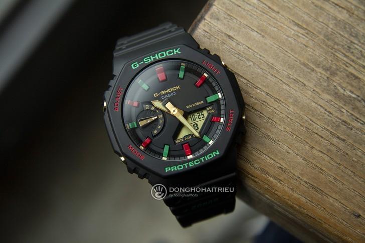G-Shock GA-2100TH-1ADR thiết kế cá tính, chống nước 20ATM - Ảnh 1