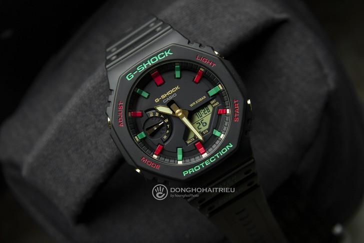 G-Shock GA-2100TH-1ADR thiết kế cá tính, chống nước 20ATM - Ảnh 3
