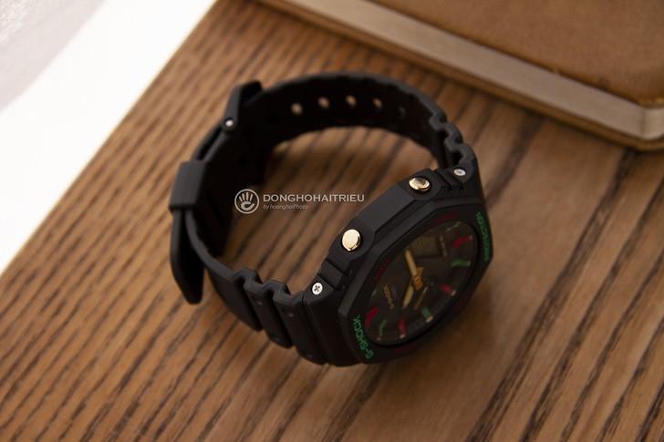 G-Shock GA-2100TH-1ADR thiết kế cá tính, chống nước 20ATM - Ảnh 5