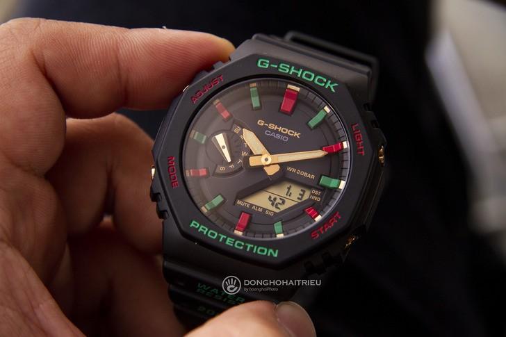 G-Shock GA-2100TH-1ADR thiết kế cá tính, chống nước 20ATM - Ảnh 6