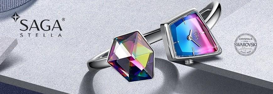SAGA - Đồng hồ kết hợp trang sức đá Swarovski chính hãng